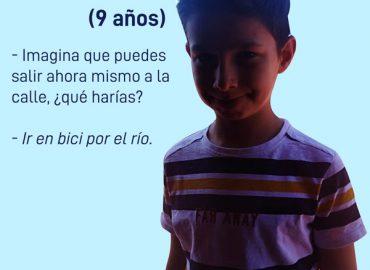 la infancia en cuarentena. Entrevistas por Cristina Sahuquillo Martinez